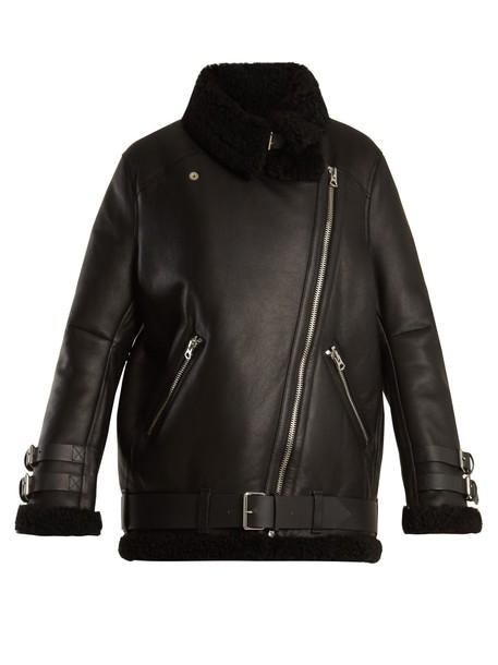 Acne Studios jacket shearling jacket leather black