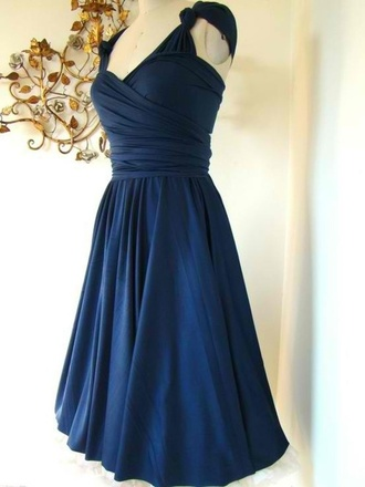 dress blue dress bridesmaid wedding clothes