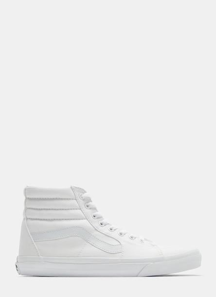 Vans Unisex Sk8-Hi Sneakers in White size US - 11