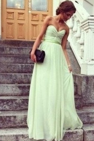 dress prom dress ball gown green dress maxi dress summer dress