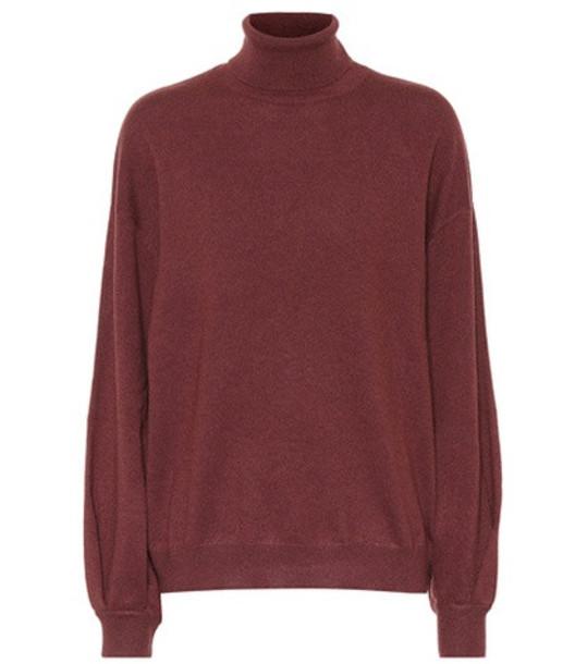 Brunello Cucinelli Cashmere turtleneck sweater in red