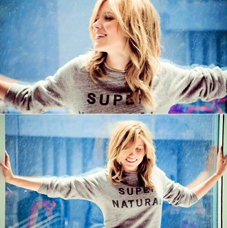 sweater sophia bush super natural super natural sweat chicago pd chicago grey sweater white/grey sweat-shirt