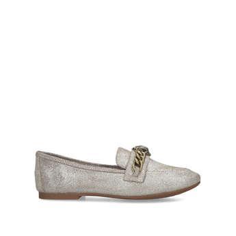 Kurt Geiger London Chelsea Loafer - Metallic Gold Eagle Embellished Loafers