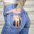 RARE vtg 70's HIGH WAIST clear PLASTIC POCKET bell bottom TIGHT JEANS hippy BOHO | eBay