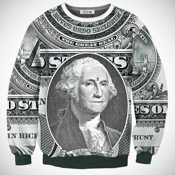 sweater money crewneck sweatshirt