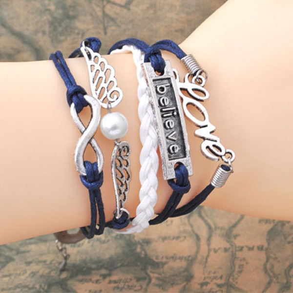 jewels bracelets silver blue