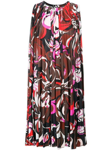 Emilio Pucci dress shift dress women silk brown
