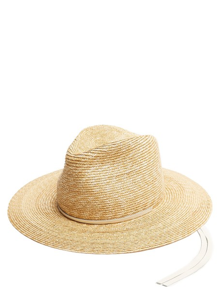 Lola Hats hat straw hat leather white