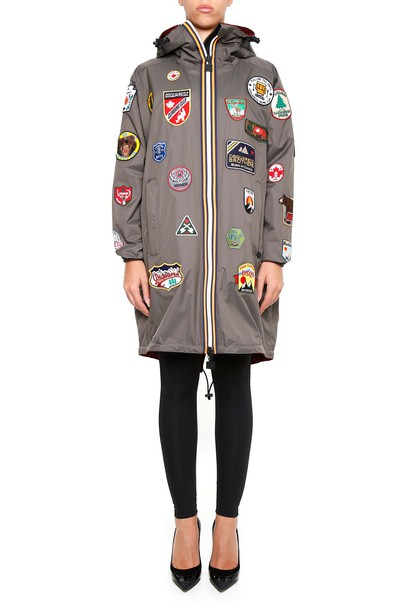 Dsquared2 jacket green red