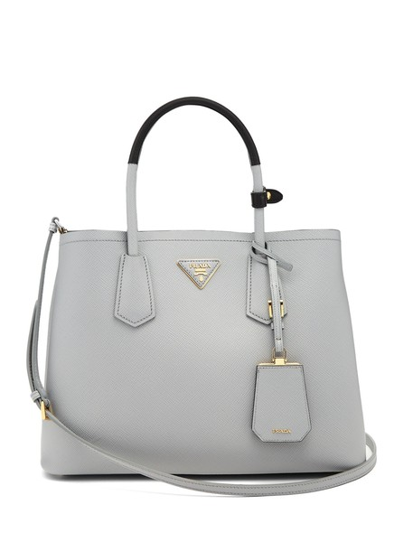 Prada bag leather bag leather light grey