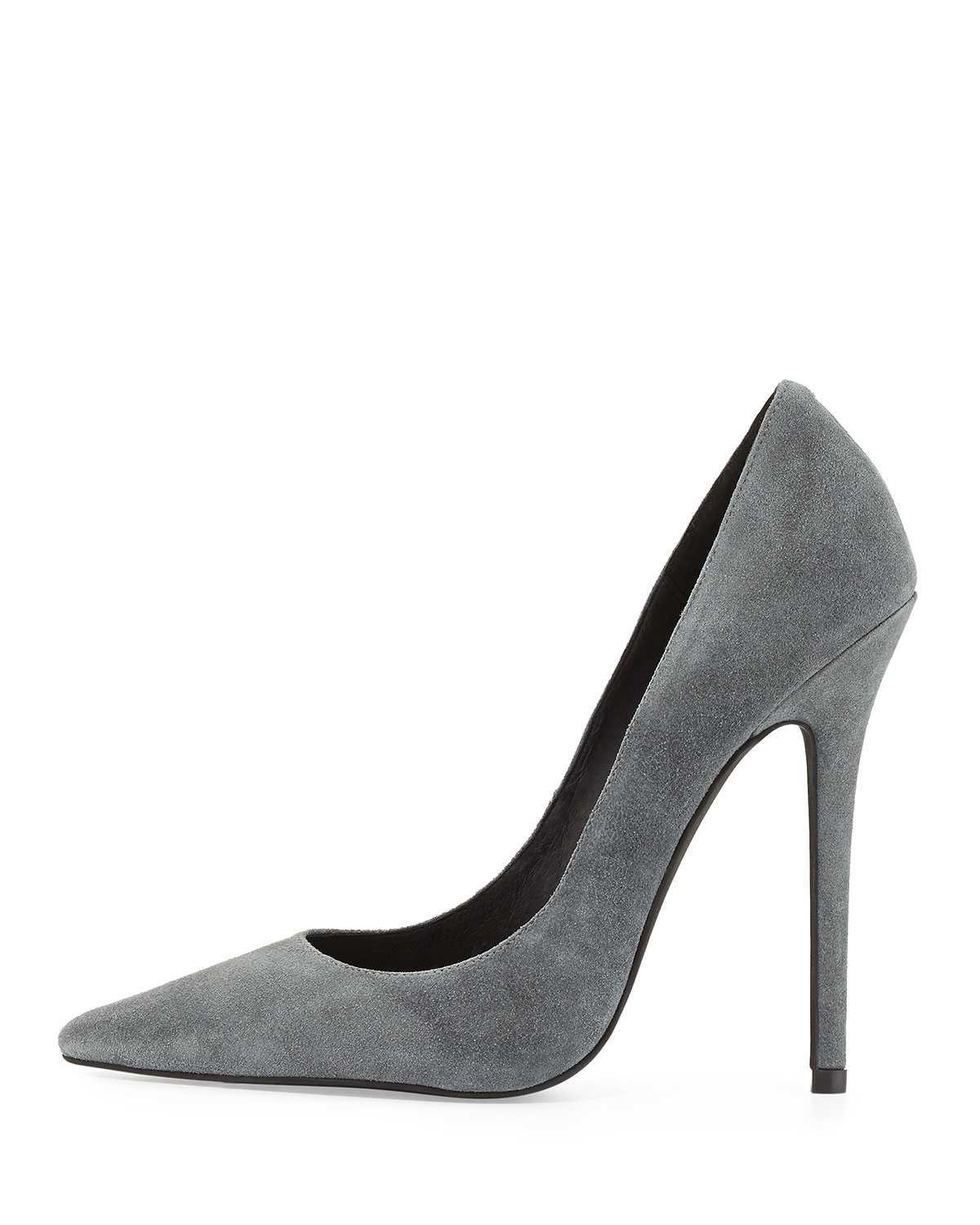 Jeffrey Campbell Darling Suede Pump, Dark Gray