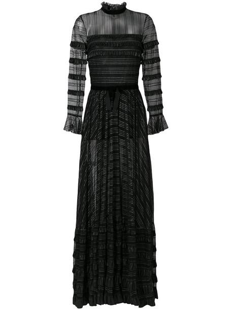 Philosophy di Lorenzo Serafini gown sheer ruffle women black dress