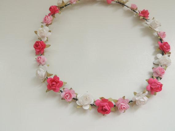 Ombre Pink Flower Crown Floral Crown By Heartsandmermaids