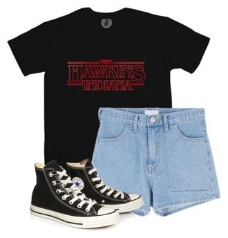 shirt stranger things black t shirt print t-shirt