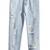 Blue Pockets Ripped Denim Pant - Sheinside.com