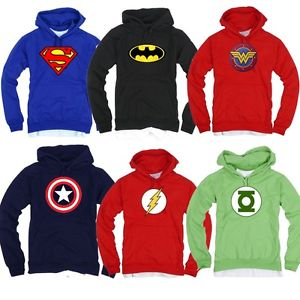 Superhero FILM Marvel DC COMICS Batman Superman Flash GL Hoodie TShirts Hoody