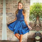 dress,dark navy homecoming dresses,sleeveless homecoming dresses,a lines homecoming dresses,high neckline homecoming dresses,mini homecoming dresses,crystal beads ruffle homecoming dresses
