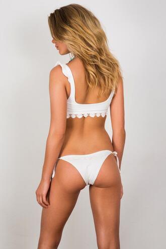 swimwear bikini bottoms soah tie sides white bikiniluxe