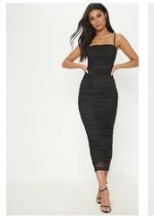 dress,strappy mesh dress