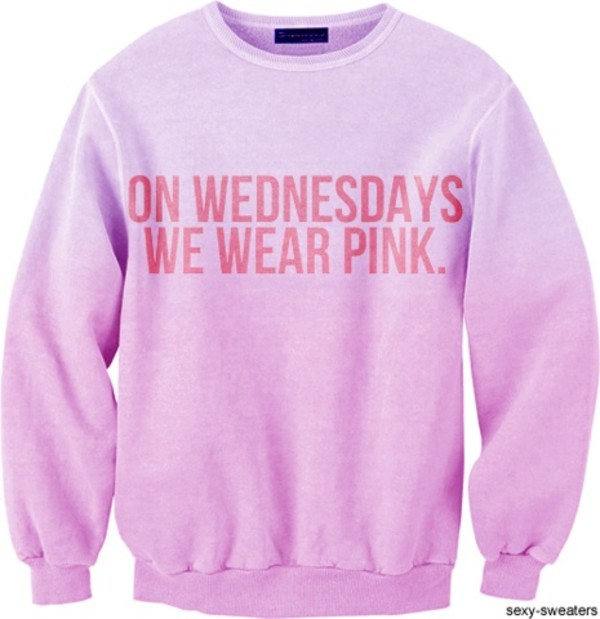 sweater mean girls pink on wednesdays we wear pink jumper