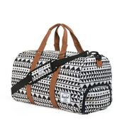 bag,aztec,duffle,black,white,triangles,travel bag