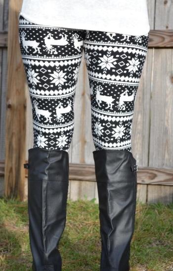 Winter wonderland leggings