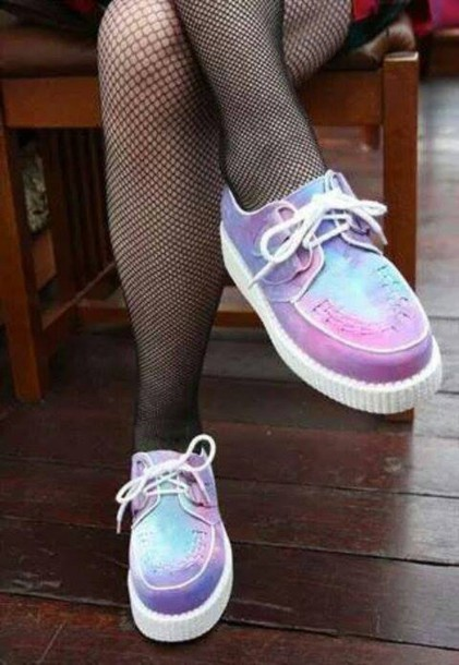 shoes creepers instagram grunge pastel goth