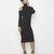 COLD SHOULDER Ribbed Knit Turtleneck Midi Dress in Black at FLYJANE
