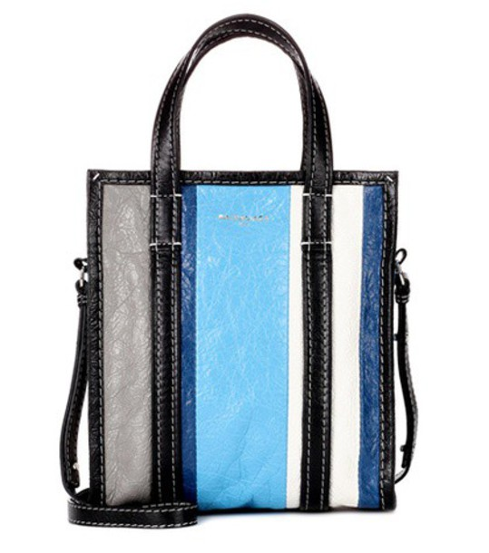 Balenciaga bag leather bag leather blue