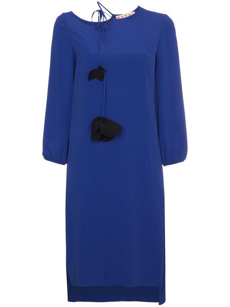 MARNI dress mini dress mini tassel women blue silk