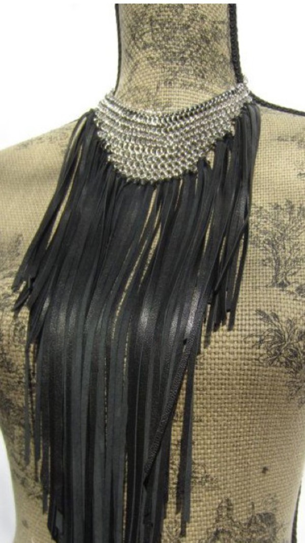 jewels necklace fringes black statement necklace jewelry