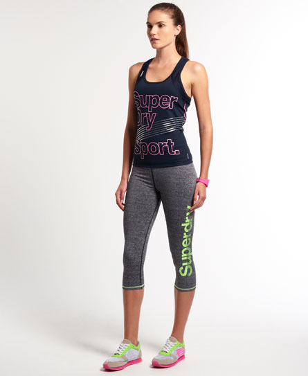 Superdry Gym Running Capri Leggings Womens Superdry Sport