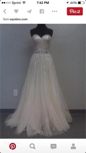 dress prom dress white dress gown
