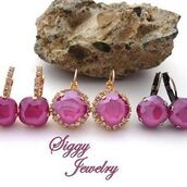 jewels,siggy jewelry,earrings,pink,peony pink,swarovski crystals,swarovski,fashion,style,sparkle,etsy,shoppping,trendy,glamour,sass,swag,diva,gift ideas,best gifts,mother's day,girly