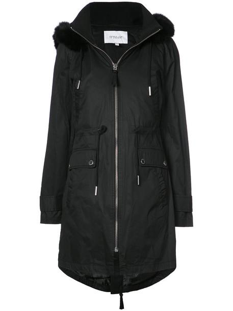 DEREK LAM 10 CROSBY vest fur vest faux fur vest fur faux fur fox women cotton black jacket