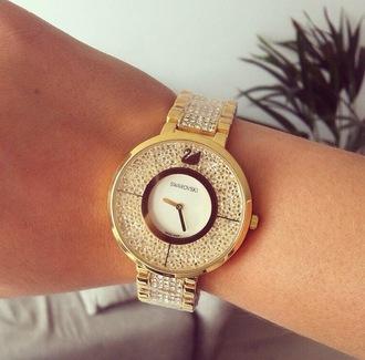 jewels watch gold watch diamonds bling