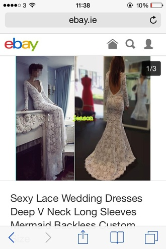 dress prom dress lace dress cream dress backless dress plunge v neck long sleeves elegant dress fitted