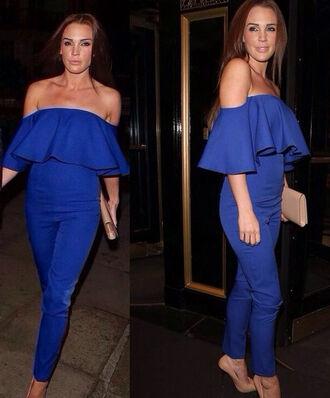 pants jumpsuits royal blue dress off shoulder jumpsuits backless dress clothes jumpsuits for womne jumpsuit