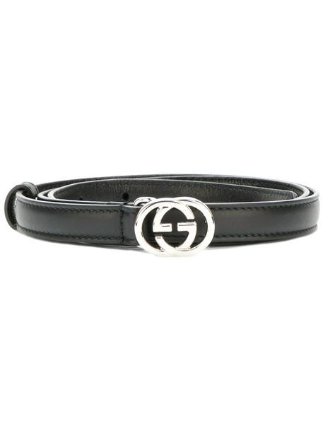 gucci women belt leather black