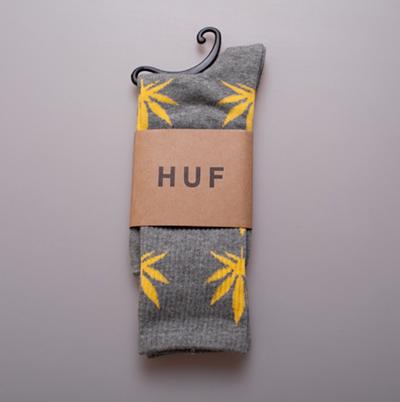 Huf weed leaf socks! (unisex) · so hazy · online store powered by storenvy