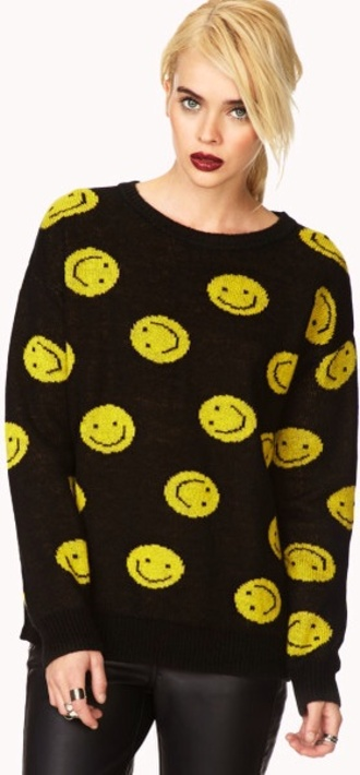 sweater smiley face smiley