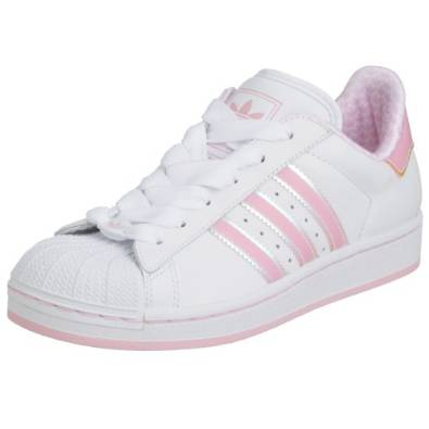 adidas originals superstar 2 damen sneaker wei pink gr e 36 2 3. Black Bedroom Furniture Sets. Home Design Ideas
