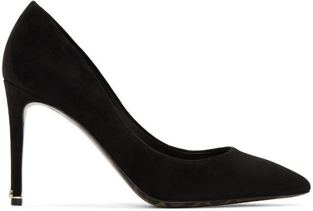 Dolce and Gabbana heels suede black shoes