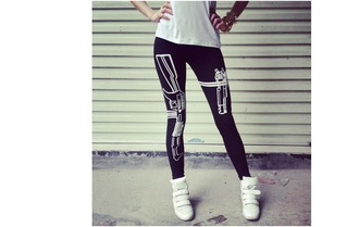 leggings black leggings printed leggings
