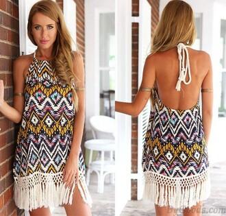 dress folk dress zigzag dress fashion cute dress
