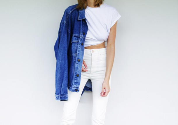 katiquette blogger shirt jeans jacket white t-shirt white jeans denim jacket