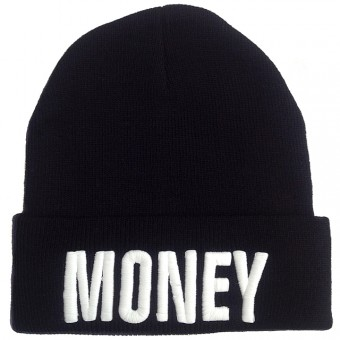Money Beanie Black White