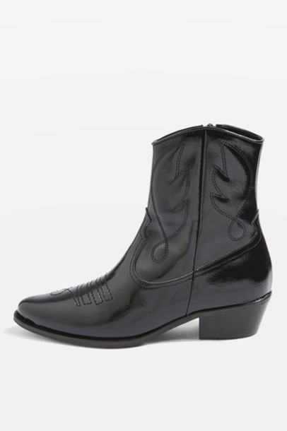 Topshop western boots black shoes