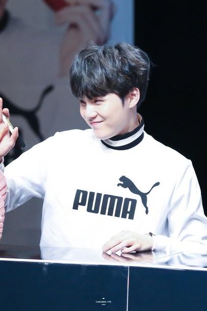 eecc42e84e5 sweater, puma x bts, puma, white, black, black and white, white and ...