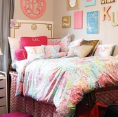 home accessory,coral,blue,bedroom,bedding
